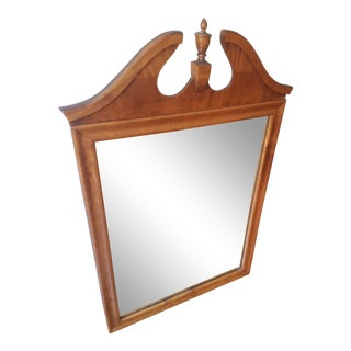 Ethan Allen Vintage Baumritter Maple Wall Mirror For Sale