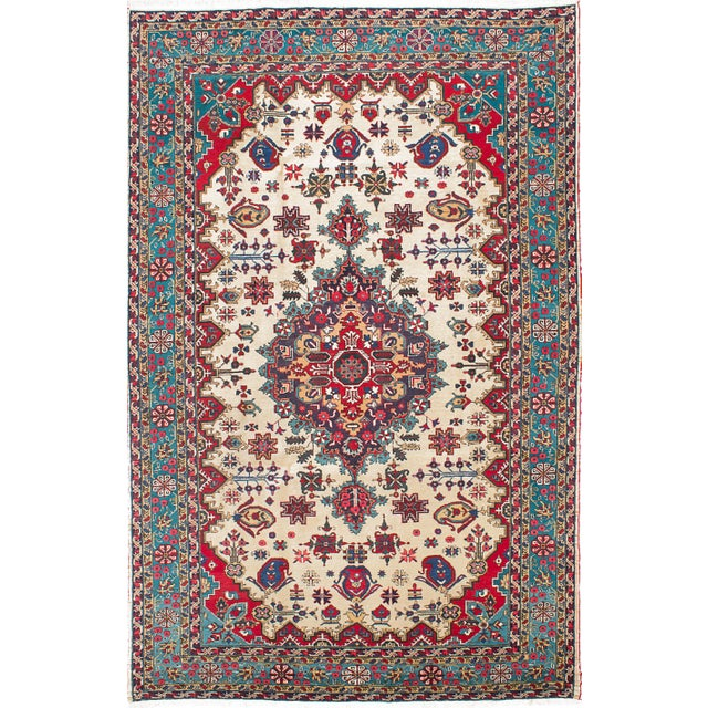 Vintage Ardabil Persian Rug - 7′4″ × 11′1″ - Image 1 of 2