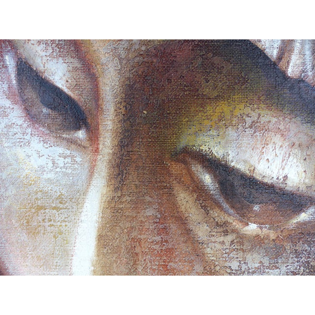 Mexican Artist Mario Lopez Cano Oil Painting on Canvas For Sale In Miami - Image 6 of 11