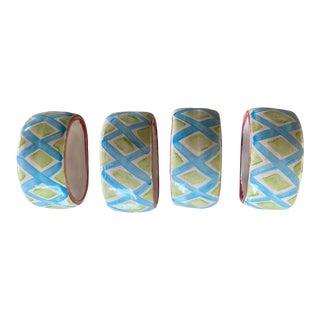Mackenzie Childs Napkin Ring Holders - Set of 4 For Sale
