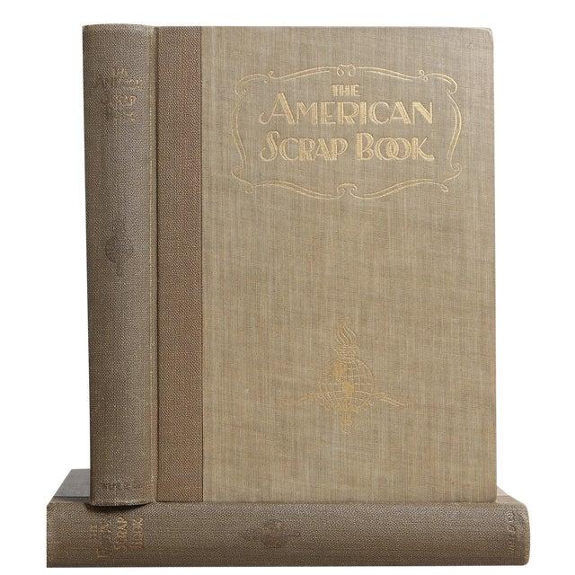 "1928 ""The American Scrap Book, 2 Vols"" Coffee Table Book For Sale"