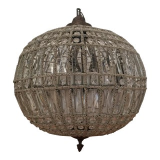 Sphere Acanthus Chandelier For Sale