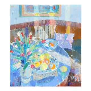Poul Nielsen, 'Still Life of Tulips in a Sunlit Interior', Post-Impressionist Still Life, Circa 1960 For Sale