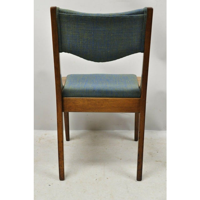 Drexel Dateline John Van Koert Walnut Mid Century Modern Dining Side Chair (B) For Sale - Image 10 of 13