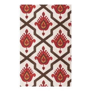 Thibaut Myanmar Ikat Linen Blend Fabric - 4 Yards For Sale