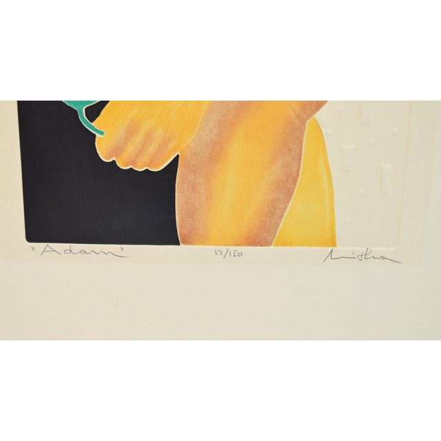 """1970s 1970's Mod Limited Edition Lithographs """"Adam"""" & """"Eve"""" Nudes - a Pair For Sale - Image 5 of 13"""