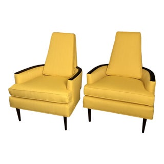 Mid Century Adrian Pearsall Club Chairs a Pair For Sale