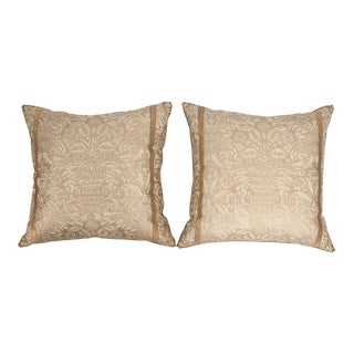 B. Viz Design Antique Campanelle Fortuny Textile Pillows - a Pair For Sale