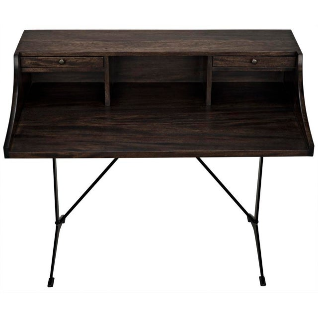 2020s Croft Desk with Metal, Ebony Walnut For Sale - Image 5 of 12