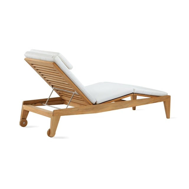Contemporary Summit Furniture Boomerang Chaise For Sale - Image 3 of 3