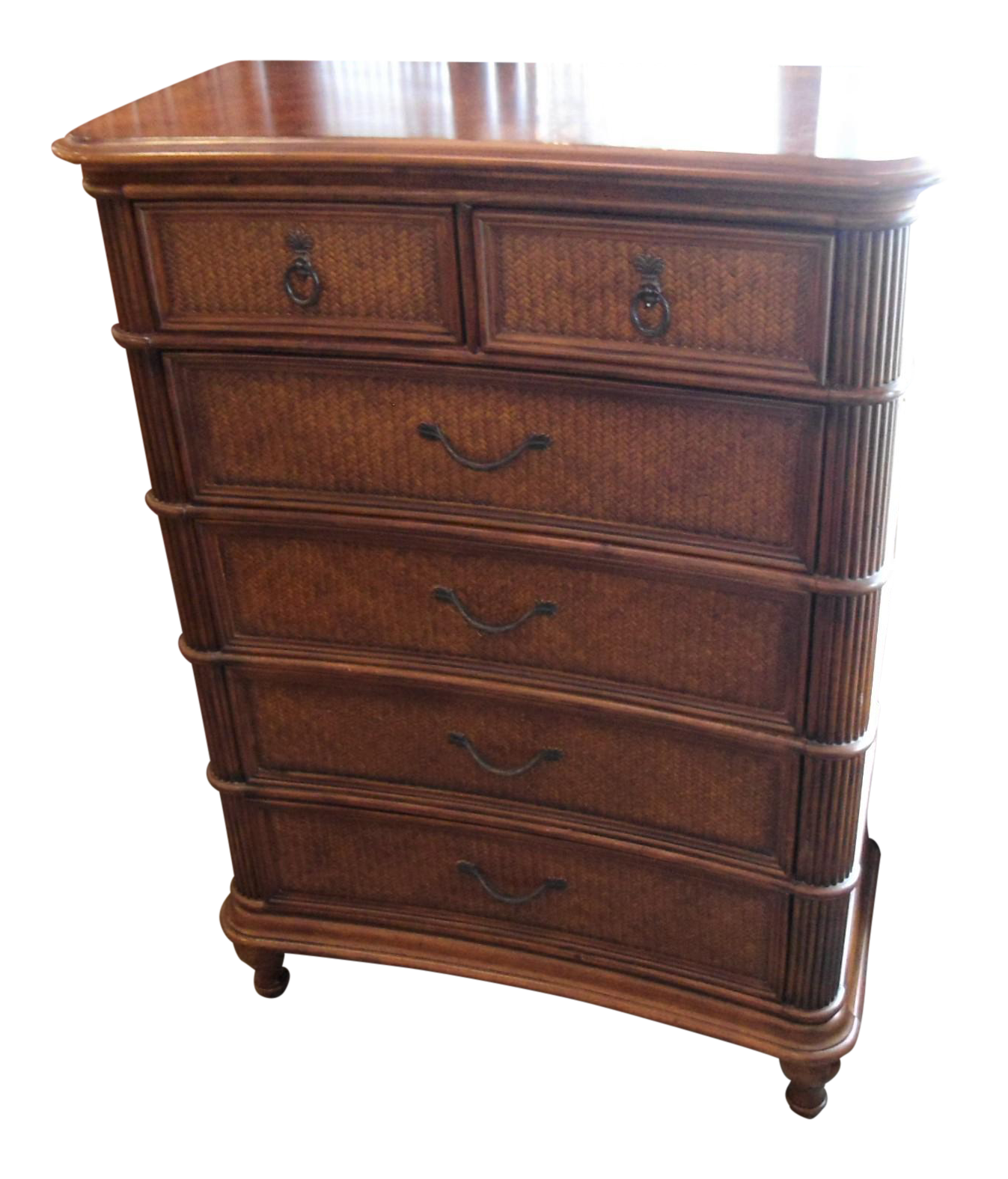 Kathy ireland rattan chest of drawers chairish