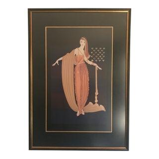 Aphrodite Erte Female Figure Print