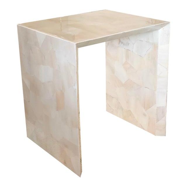Modern Made Goods Sleek Faux Horn Side Table For Sale