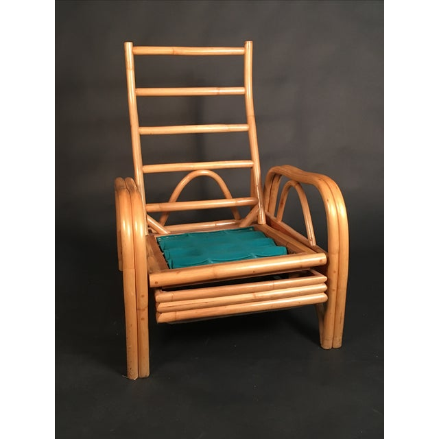 Vintage Rattan Recliner For Sale - Image 4 of 8