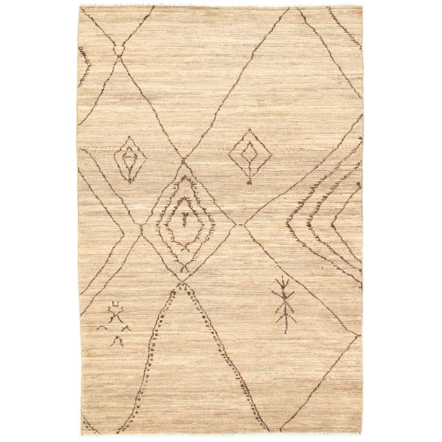 Moroccan Style Hand-Knotted Rug For Sale - Image 9 of 9