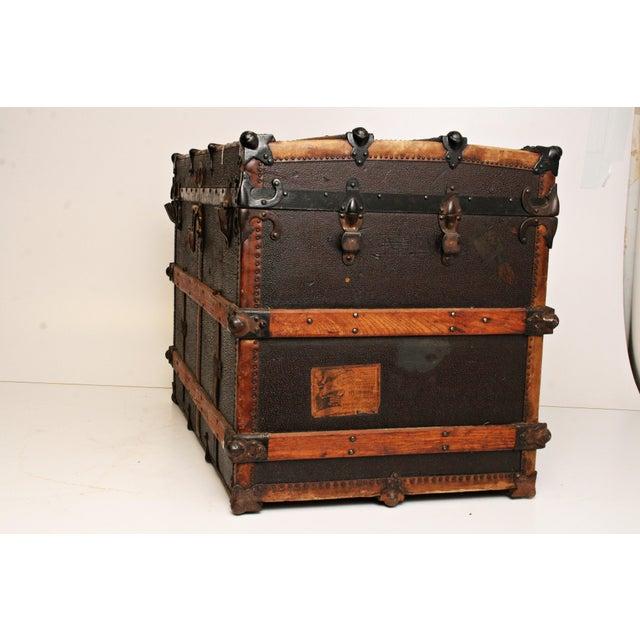 Antique Wood Steamer Trunk - Image 5 of 11