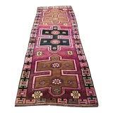 "Image of Turkish Anatolian Pink Rug-3'7'x9'11"" For Sale"