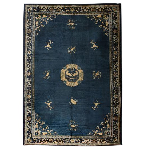 Antique Oversize 19th Century Chinese Carpet For Sale