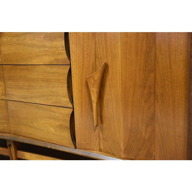 Mid-Century Sculpted Walnut Dresser - Image 10 of 11