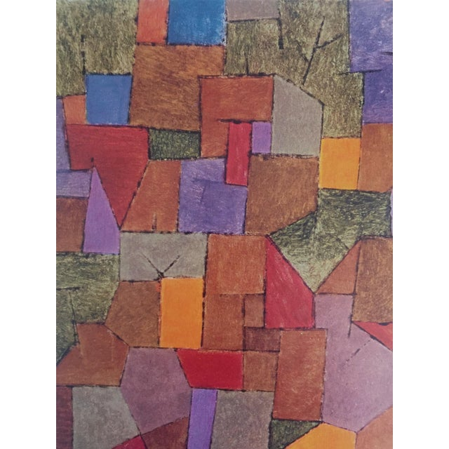 """Paul Klee Paul Klee Vintage 1967 Authentic Abstract Lithograph Print """"Mountain Village Autumnal"""" 1943 For Sale - Image 4 of 8"""