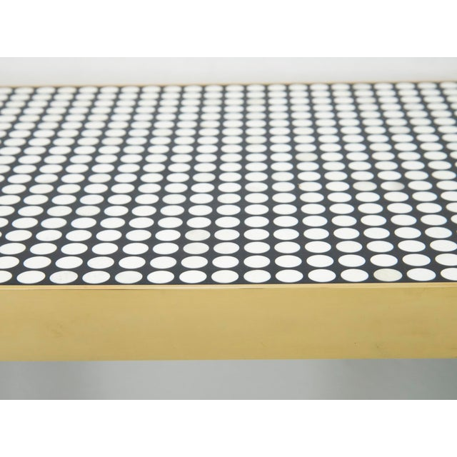 1970s Etienne Allemeersch - Console Made of Round Bones, Resin and Brass, Circa 1970 For Sale - Image 5 of 6