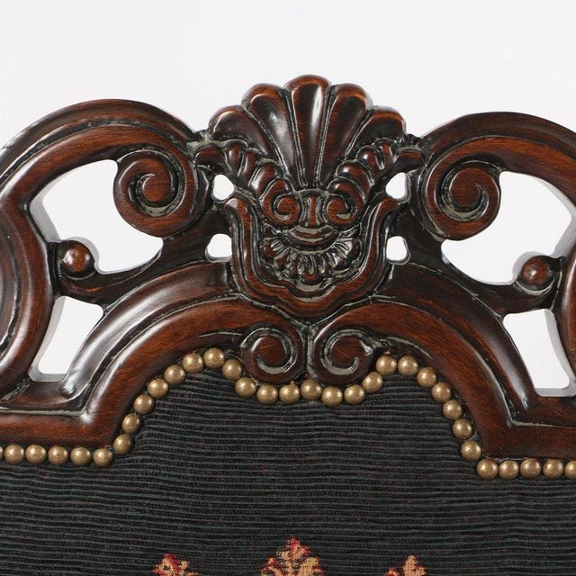 Late 20th Century Vintage Louis XIV Style Armchair For Sale In San Antonio - Image 6 of 11