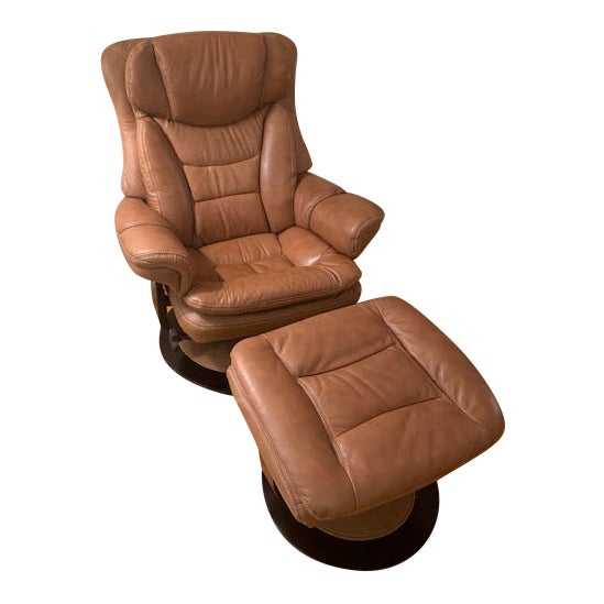 Admirable Modern Lane Furniture Leather Chair Ottoman Pabps2019 Chair Design Images Pabps2019Com