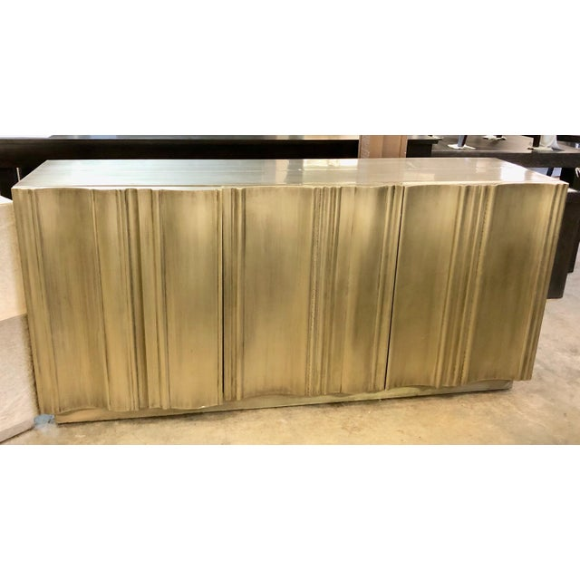 2010s Contemporary Silver Buffet Sideboard For Sale - Image 5 of 5