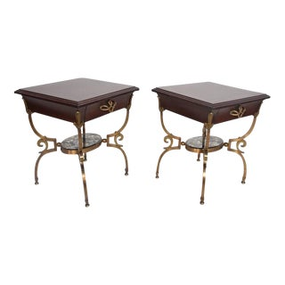 Pair of Side Tables Nightstands Attributed to Arturo Pani For Sale