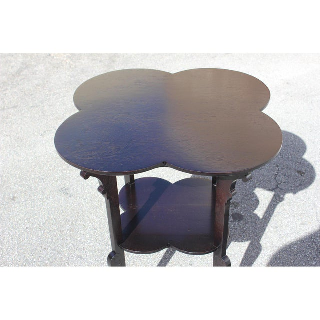 Black 1940s French Art Deco Dark Mahogany Two-Tier Side Table For Sale - Image 8 of 13