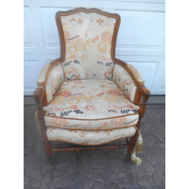 Asian Vintage Heywood Wakefield Era Club / Fireside Arm Chair For Sale - Image 3 of 10
