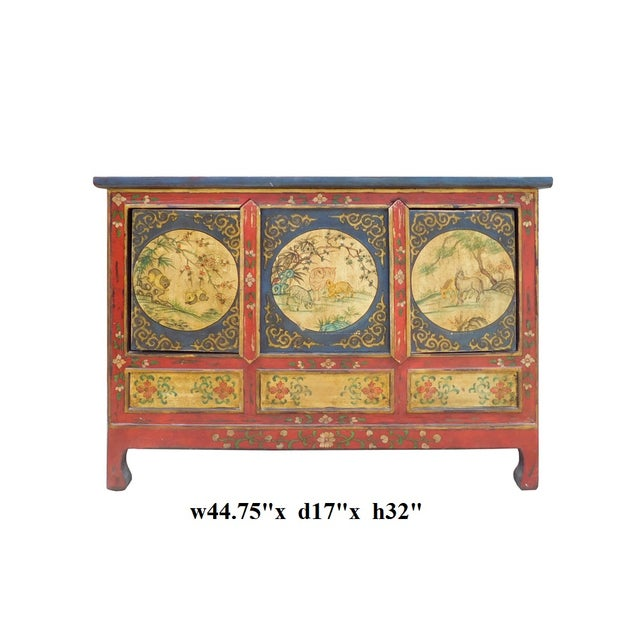 Chinese Tibetan Credenza - Image 7 of 7