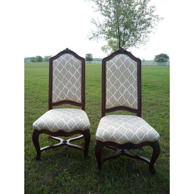 Ethan Allen Henredon Vintage Host/Hostess Dining Chairs- A Pair For Sale - Image 4 of 9