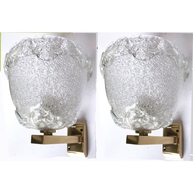 White Italian Barovier Sconces - A Pair For Sale In Miami - Image 6 of 6