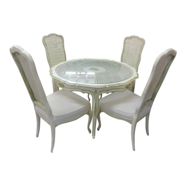 French Breakfast Table & Chairs - Image 1 of 8