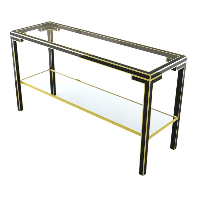 Gilded Metal Console Table For Sale