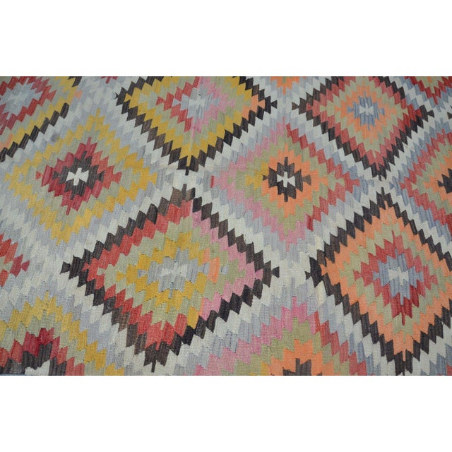 Vintage Turkish Kilim Rug - 5′4″ × 10′7″ - Image 3 of 6