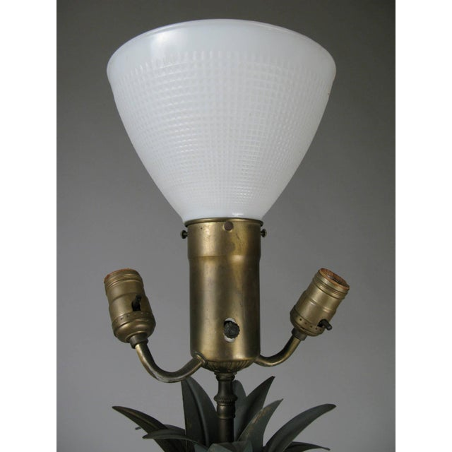 Vintage Pair of Large Pineapple Form Lamps For Sale - Image 4 of 6