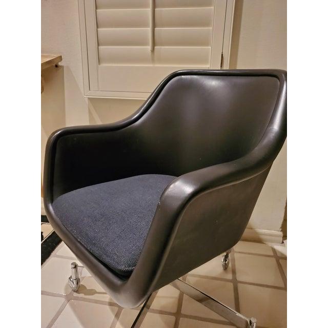 Ward Bennett Classic Black Office Desk Chair for Brickel Associates For Sale - Image 9 of 13