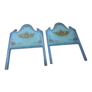 1970s Folk Art Twin Headboards - a Pair For Sale