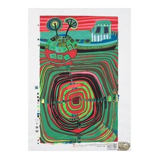 La Barca Regantag, Numbered Silkscreen, Friedensreich Hundertwasser