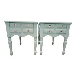 1950s Boho Chic Mersman Solid Wood Bedside Tables - a Pair For Sale