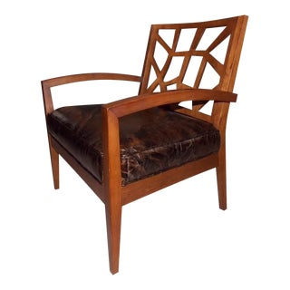 Art Deco Illusion Leather Armchair