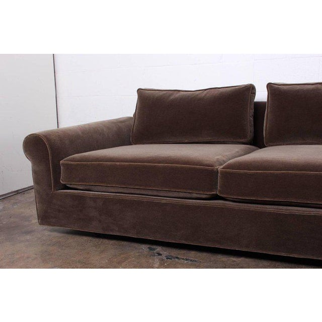 """Big Texan"" Sofa by Edward Wormley for Dunbar in Mohair - Image 9 of 10"
