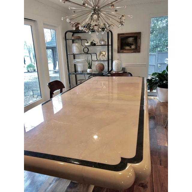 1970s 1970s Modern Enrique Garcel Lacquered Goatskin Dining Table For Sale - Image 5 of 9