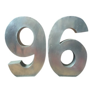 "Modern Metal Numbers ""96"" For Sale"