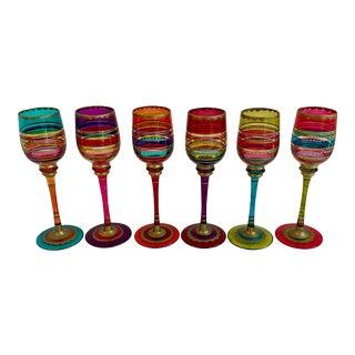 Mid-Century Turkish Stem Glasses - Set of 6 For Sale