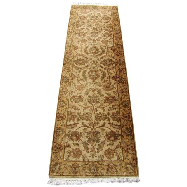 "Oriental Hand Woven Wool Runner - 2'6"" x 7'11"" - Image 1 of 11"