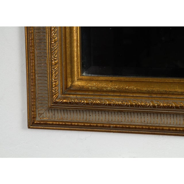 Gilt Gold Green Mirror For Sale - Image 4 of 5