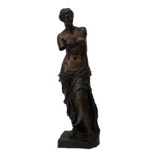 20th Century Venus De Milo Grand Tour Bronze Sculpture For Sale